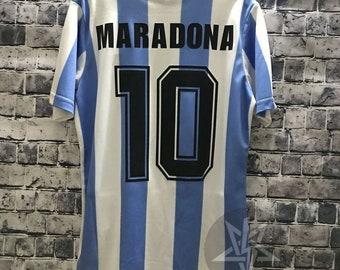 f1b4f5058 1986 Argentina Maradona Soccer Jersey Retro Home Blue