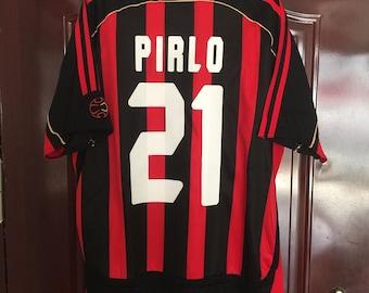 93e42cf62 2006 AC Milan PIRLO Soccer Jersey Home
