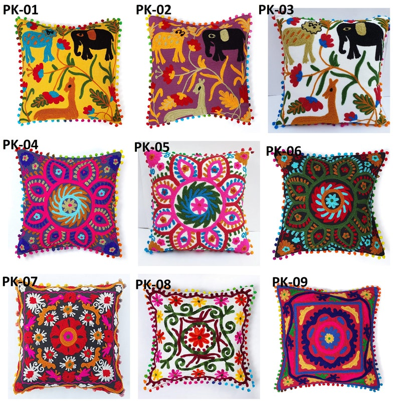 Colorful Cushion Cover. Colorful embroidered cushion cover. image 0