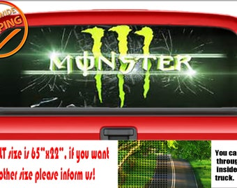 Monster Energy Sticker Etsy