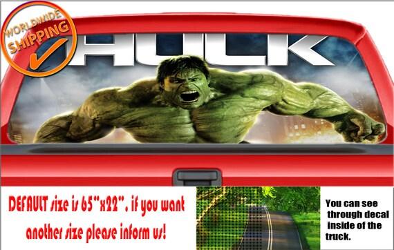 Marvel Avengers Incredible Hulk Vinyl Decal Sticker Car Truck Window