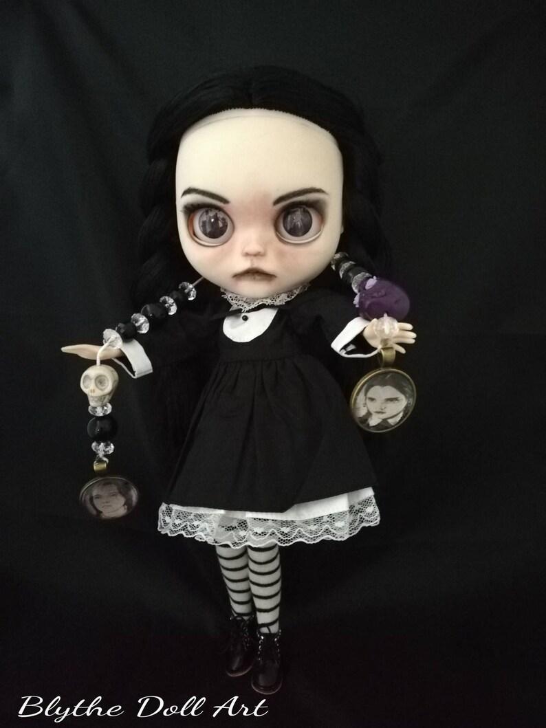 Don/'t buy Wednesday Addams Blythe Ooak Custom Doll Blythe Ooak sold out! Blythe TBL Custom spooky blythe girl