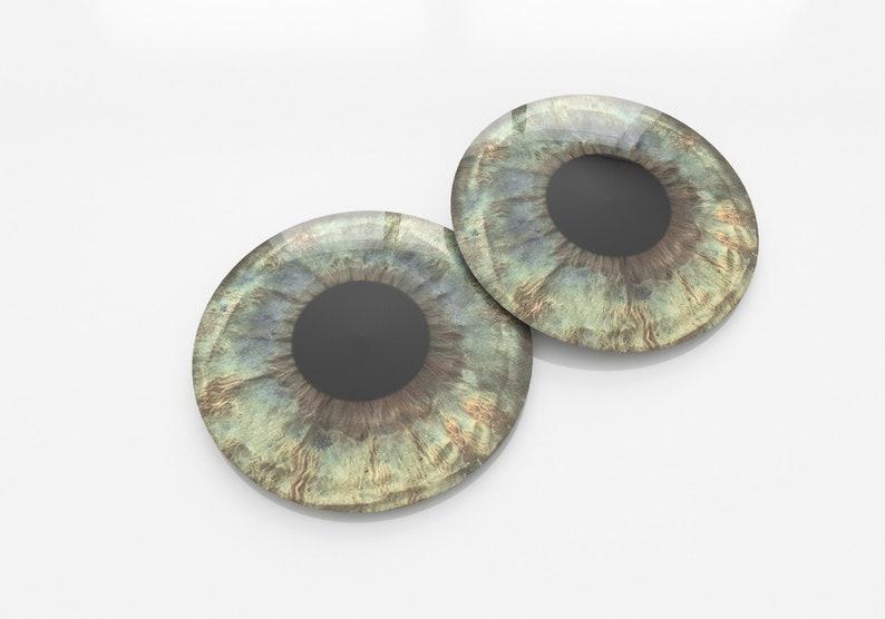 Super Realistic brown glass eyes Blythe eyechips J-0048