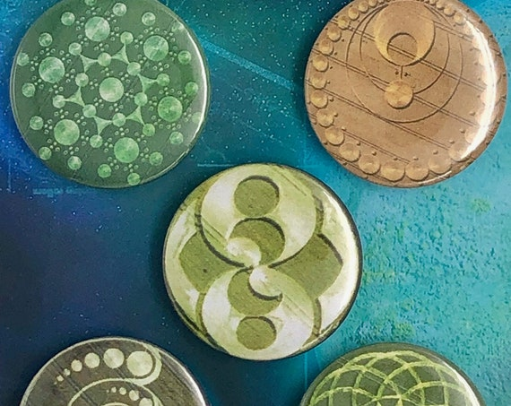 Lot of 5 Magnets 37mm - Crop Circles - B
