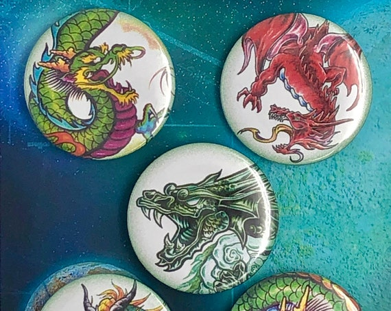 Big Badges - Dragons - B