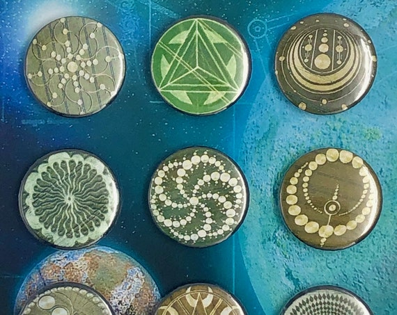 Small Badges - Crop Circles - A