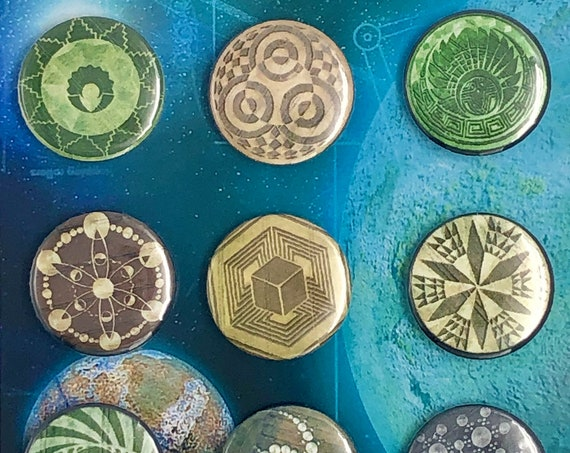 Small Badges - Crop Circles - B