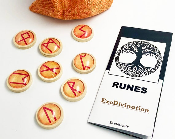 RUNES Divination Kit - Orange