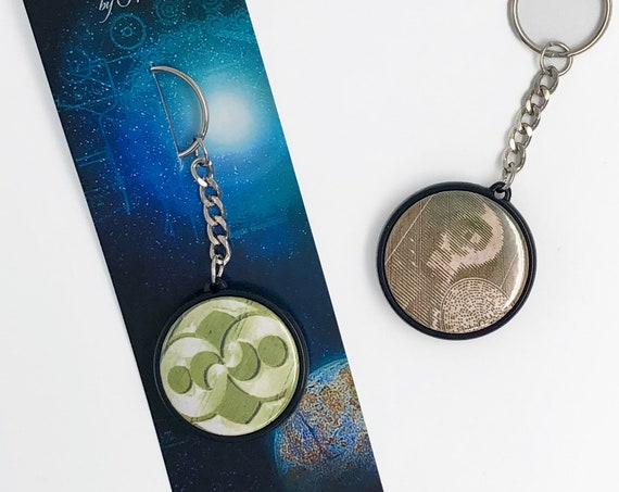 TWO-sided PORTE-CLEFS - Crop Circles - C