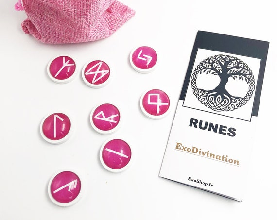 RUNES Divination Kit - Rose/White