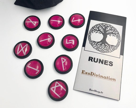 Kit de Divination RUNES - Rose