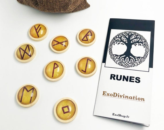 RUNES Divination Kit - Brown