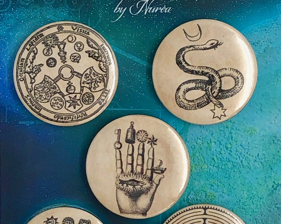 Lot of 5 Magnets 37mm - Alchemy - C