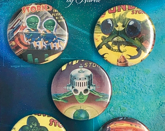 Lot of 5 Magnets 37mm - Comics