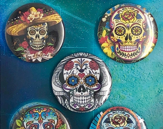 Great Badges - Day of the Dead - Skulls