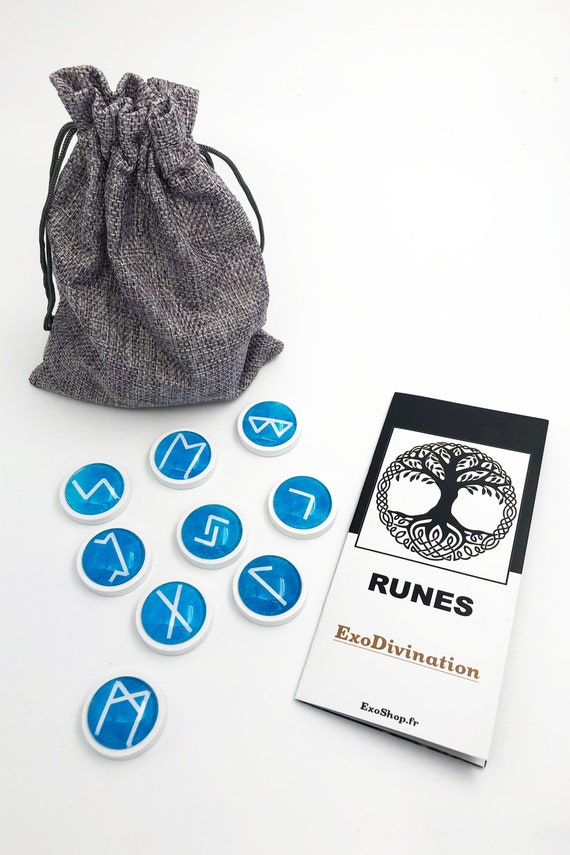 RUNES Divination Kit - Blue/White