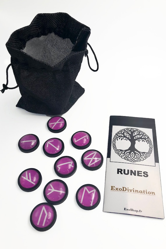 Kit de Divination RUNES - Violet