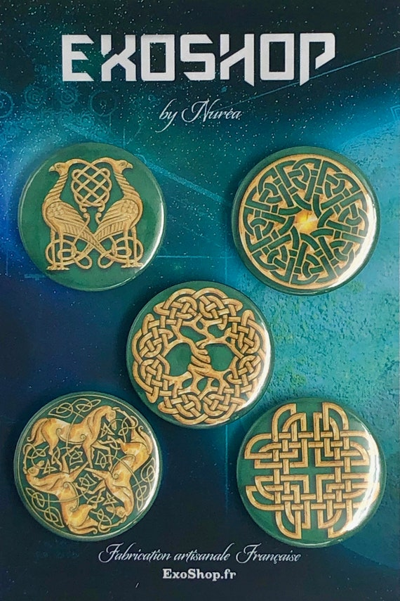 Lot of 5 Magnets 37mm - Celt