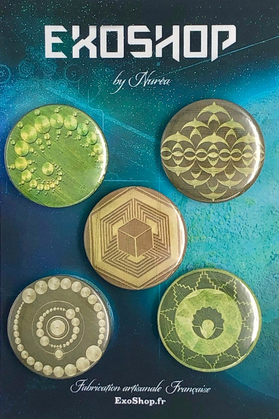 Lot of 5 Magnets 37mm - Crop Circles - C