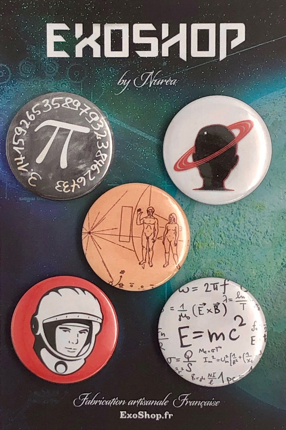 Lot of 5 Magnets 37mm - Science