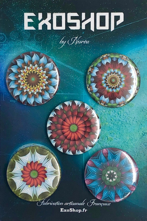 Big Badges - Mandalas Flowers