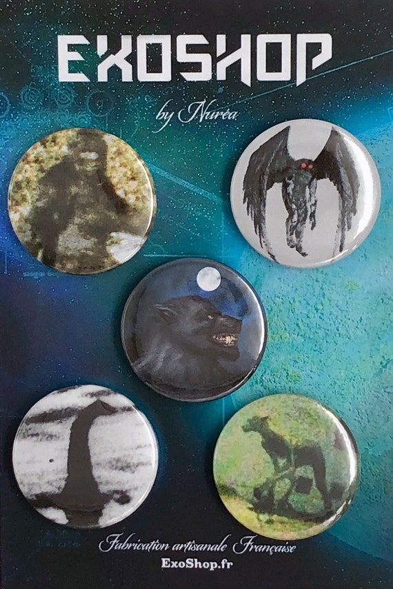 Lot of 5 Magnets 37mm - Cryptozoology