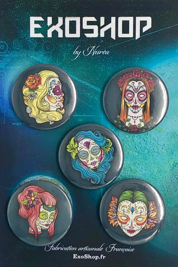 Big Badges - Day of the Dead - Women