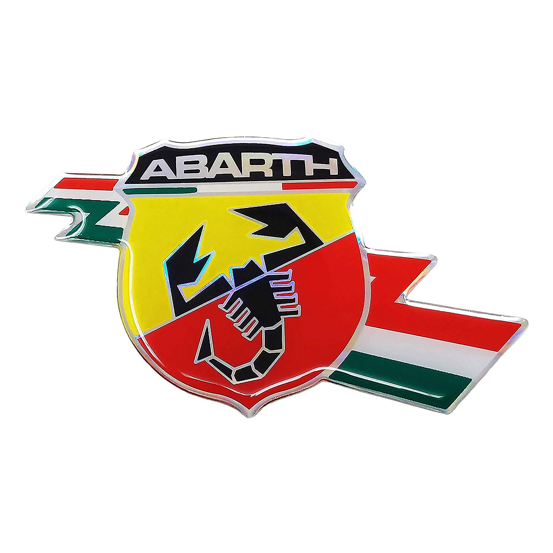 Abarth 21503 Set 2 adesivi Scudetto Folgore 94 mm x 131 mm