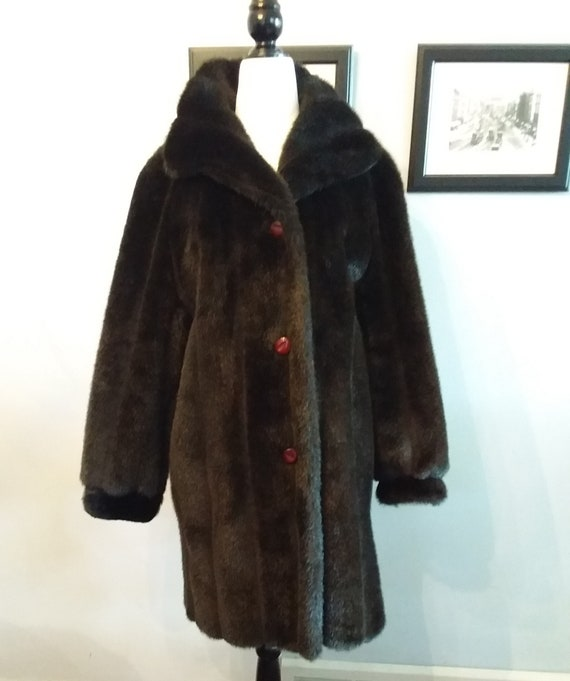 Faux Fur Coat/Vintage Faux Fur Coat/Luxury Fur Coa
