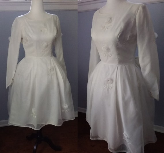 60s Bridal Dress/Bride Dress/60s Vintage Dress/60s