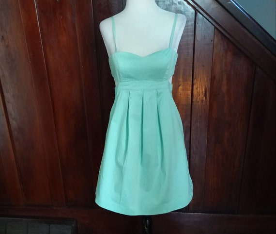 90s Sundress/Vintage Sundress/Mint Green Sundress/