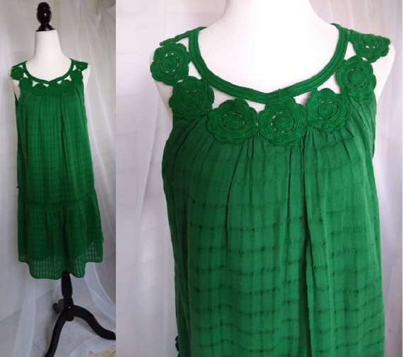 Vintage Green 60s Sundress/60s Sundress/Womens Dre