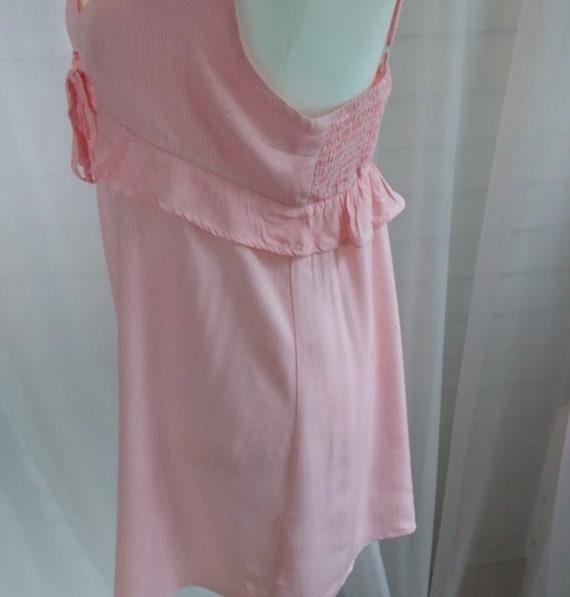 Vintage Sundress/Pink Striped Mini Sundress/Pink … - image 4