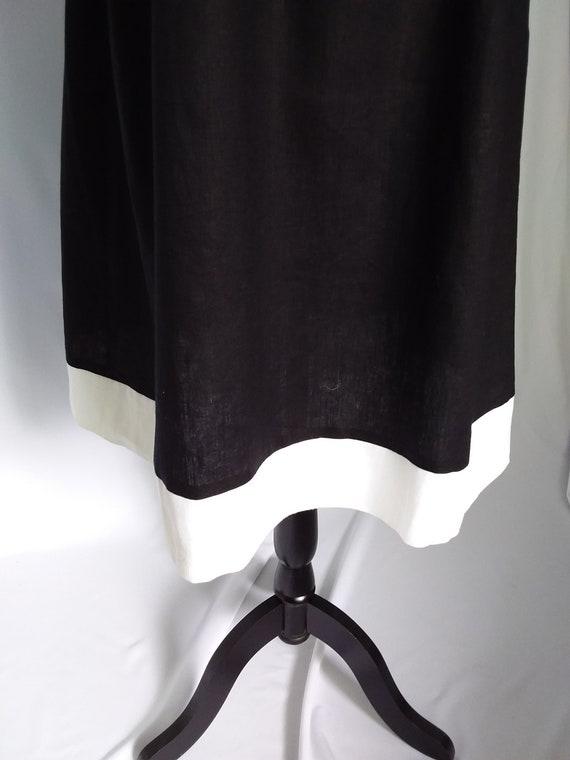 Vintage Linen Dress/Large Black Linen Dress - image 8