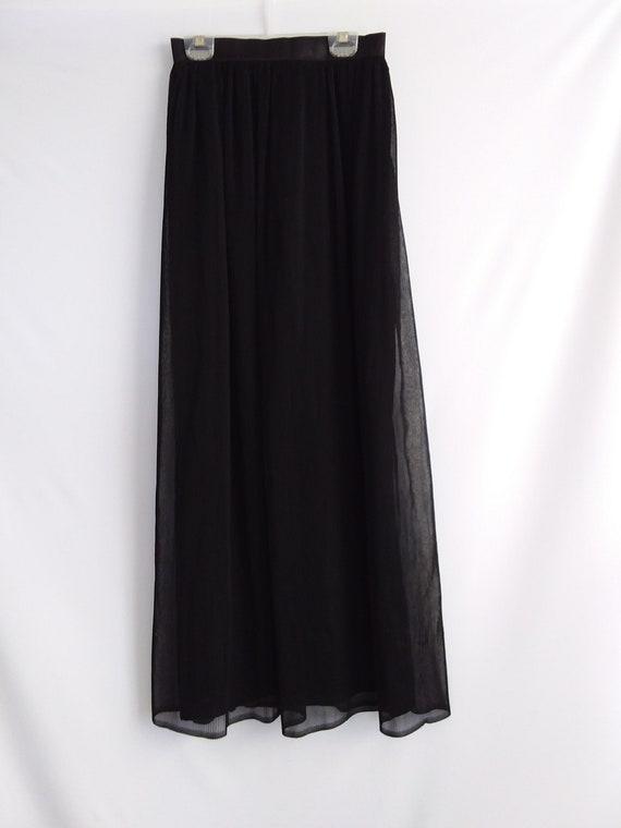 Black Pleated Midi Skirt/Vintage Midi Skirt/Evenin