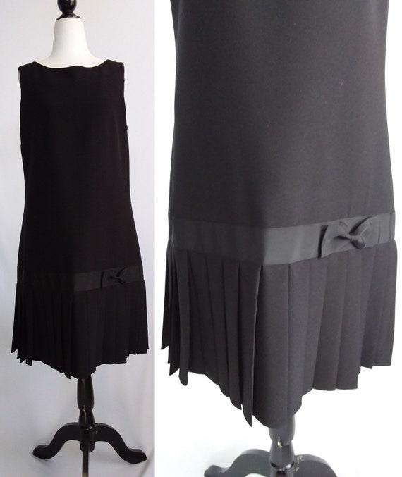 Vintage Karl Lagerfeld Black Dress/90s Lagerfeld
