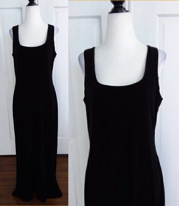 Black Velvet Evening Gown/Vintage Velvet Gown/New