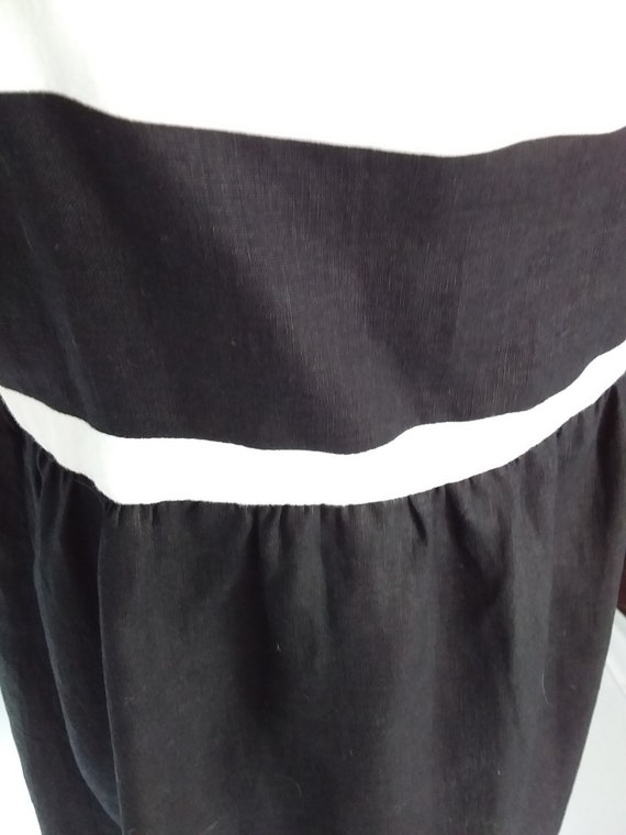 Vintage Linen Dress/Large Black Linen Dress - image 5