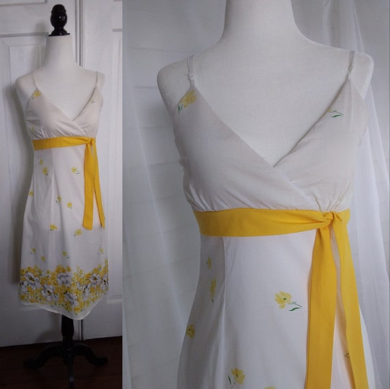 60s Sundress/Vintage Sundress/Yellow Dress/Yellow