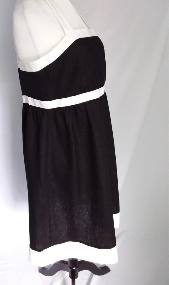 Vintage Linen Dress/Large Black Linen Dress - image 4