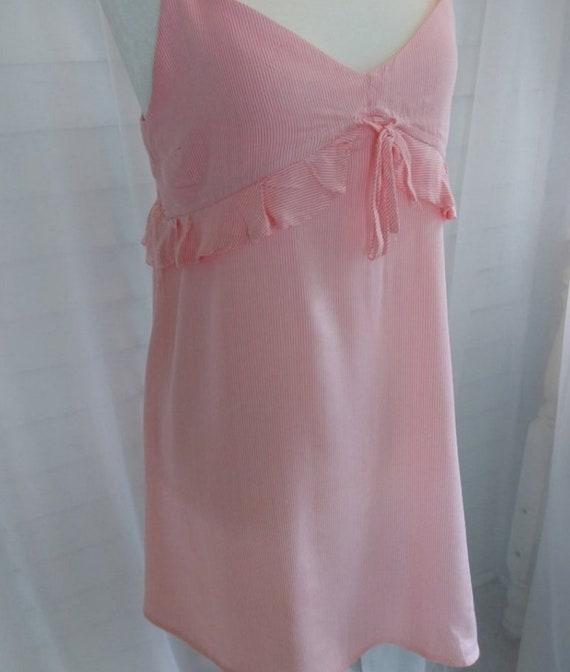 Vintage Sundress/Pink Striped Mini Sundress/Pink … - image 2