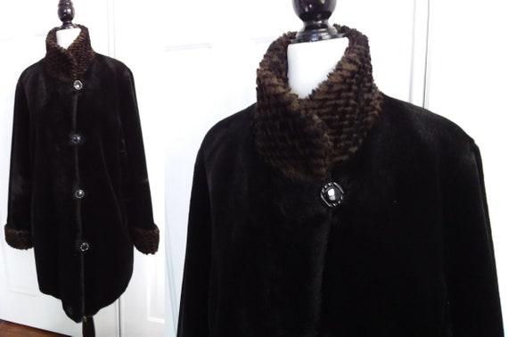 Vintage Faux Fur Coat/Luxury Faux Fur