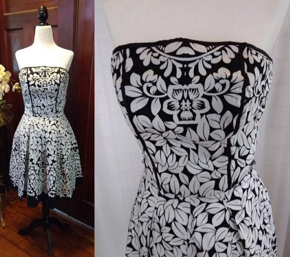 Black and White Vintage Audrey Hepburn Dress/Strap