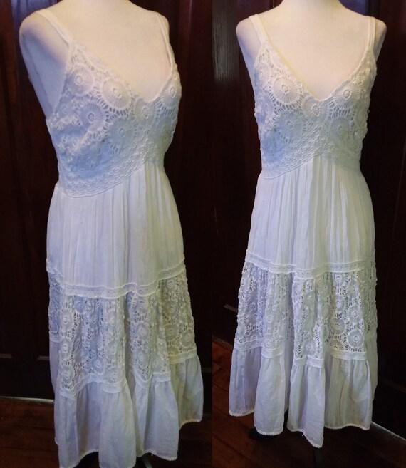 Cotton Sundress/Boho Sundress/Embroidered Sundress