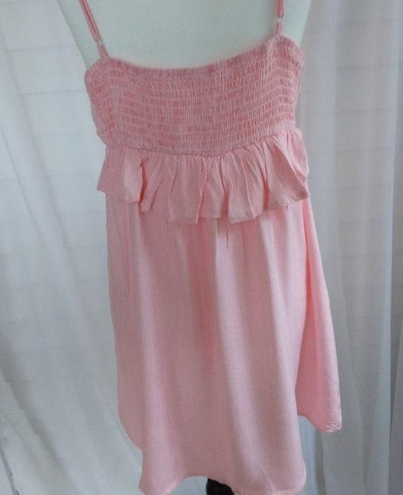Vintage Sundress/Pink Striped Mini Sundress/Pink … - image 5