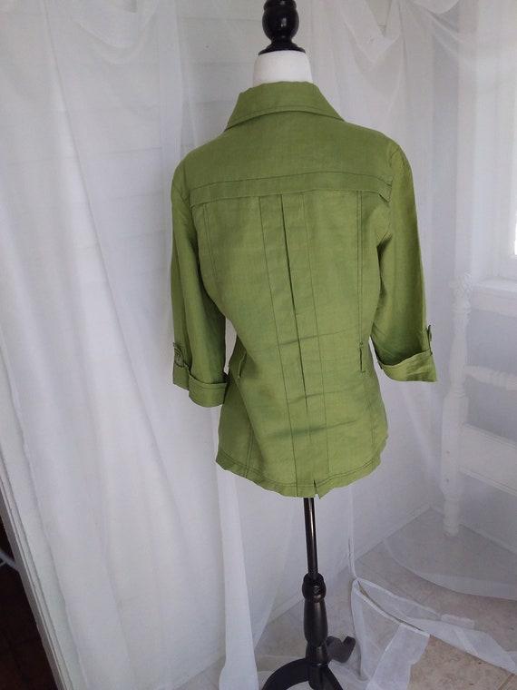 Vintage Linen Jacket/Green Linen Jacket - image 8