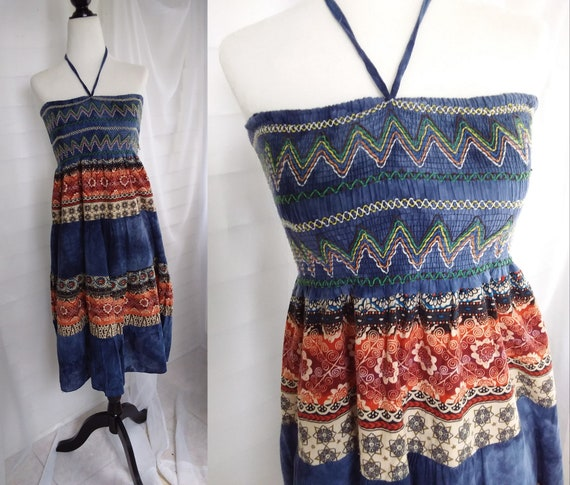 Boho Indian Cotton Peasant Dress