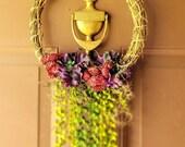 12 inch Grape Vine Wreath with Succulents