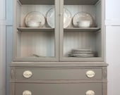 SOLD Vintage Drexel Bow Front Hutch (shipping not included)