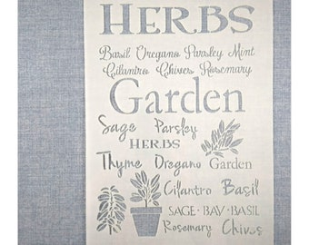 Make your own Mint Parsley Oregano Signs DIY Herbs Stencil